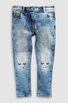Next Skinny Jeans With Unicorn Detail (3-16yrs)