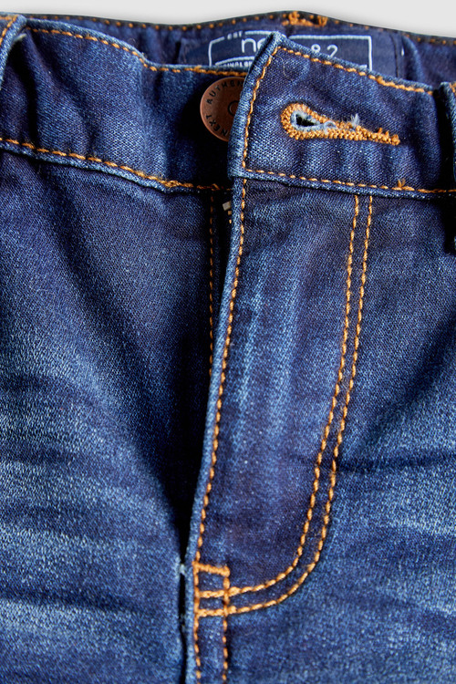 Next Indigo Distressed Jersey Denim Five Pocket Jeans (3-16yrs)