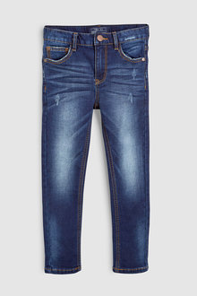 Next Indigo Distressed Jersey Denim Five Pocket Jeans (3-16yrs)