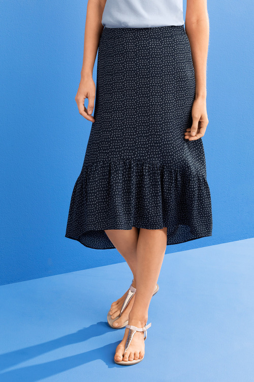 Capture Ruffle Hem Skirt