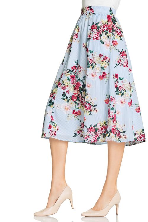Capture Cotton Print Skirt