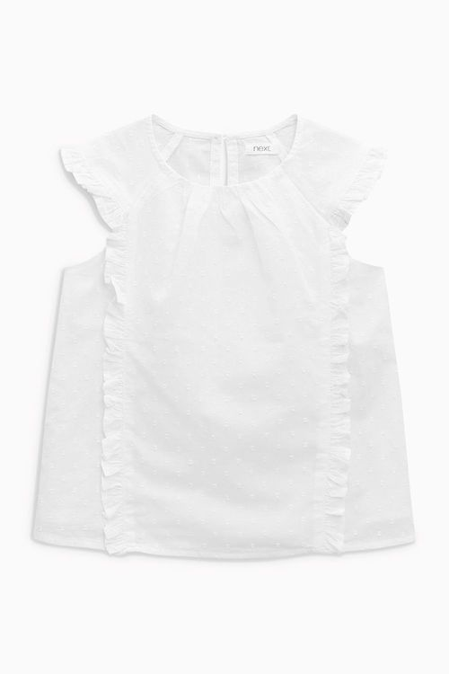 Next White Frill Blouse (3-16yrs)