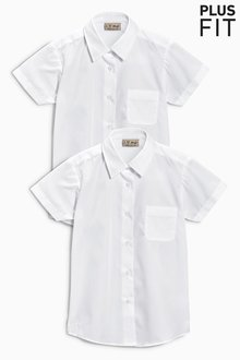 Next Plus Fit Short Sleeve Formal Shirt Two Pack (3-16yrs) - 212615