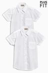Next Plus Fit Short Sleeve Formal Shirt Two Pack (3-16yrs)