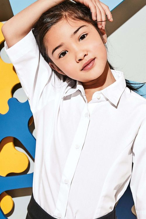 Next Three Quarter Sleeve Blouse Two Pack (3-16yrs) - Slim Fit