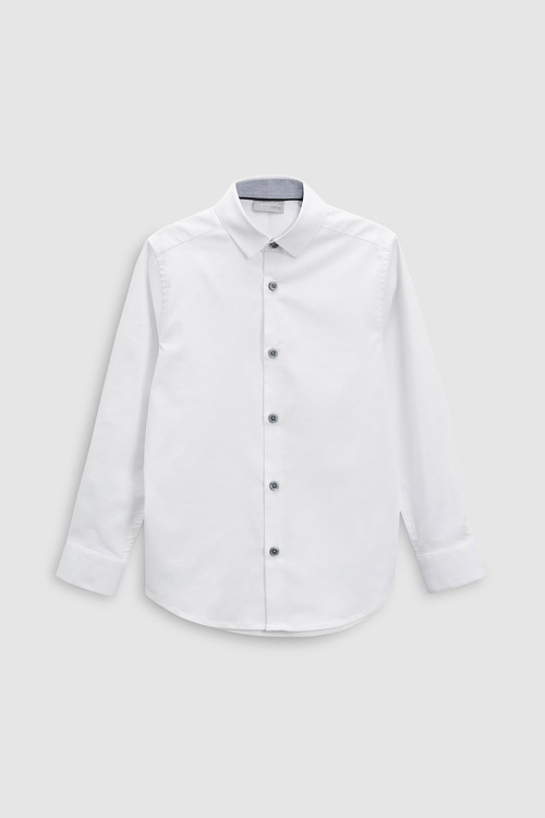 Next Long Sleeve Smart Stretch Shirt (3-16yrs)