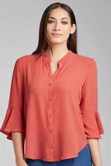 Capture Ruffle Sleeve Shirt - 212622