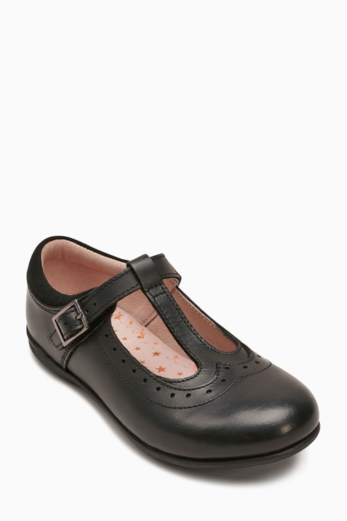 Next T-Bar Leather Shoes (Older) - Wide Fit