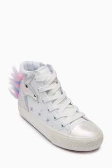 Next Unicorn Embellished Hi Top Trainers (Older)