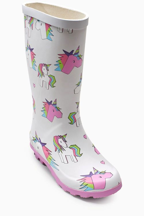 Next Unicorn Printed Wellies (Older)