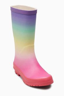 Next Ombre Rainbow Wellies (Older)