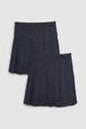 Next Long Pleated Skirt Two Pack (3-16yrs)
