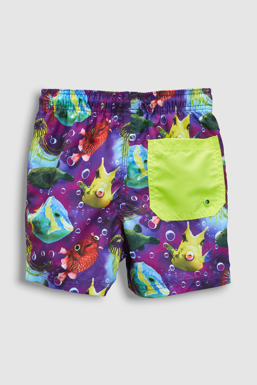 Next Puffer Fish Print Swim Shorts (3mths-16yrs)