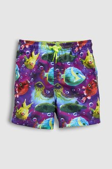 Next Puffer Fish Print Swim Shorts (3mths-16yrs)