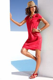 Emerge Linen Blend Pocket Dress