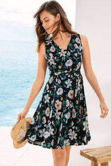 Emerge Cotton Tea Dress - 212743