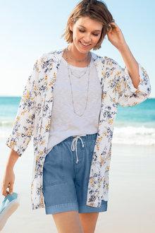 Emerge Print Kimono