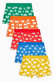 Next Transport Print Trunks Five Pack (2-14yrs)