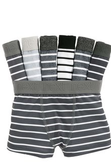 Next Monochrome Stripe Trunks Seven Pack (2-16yrs)