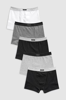 Next Grey Trunks Five Pack (2-16yrs)
