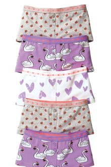 Next Swan/Heart Printed Boxers Five Pack (3-16yrs)