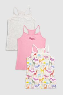 Next Animal Cami Three Pack (3-16yrs)