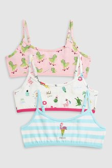 Next Flamingo Crop Tops Three Pack (Older Girls)