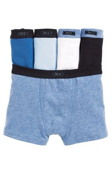 Next Blue Trunks Five Pack (2-16yrs)