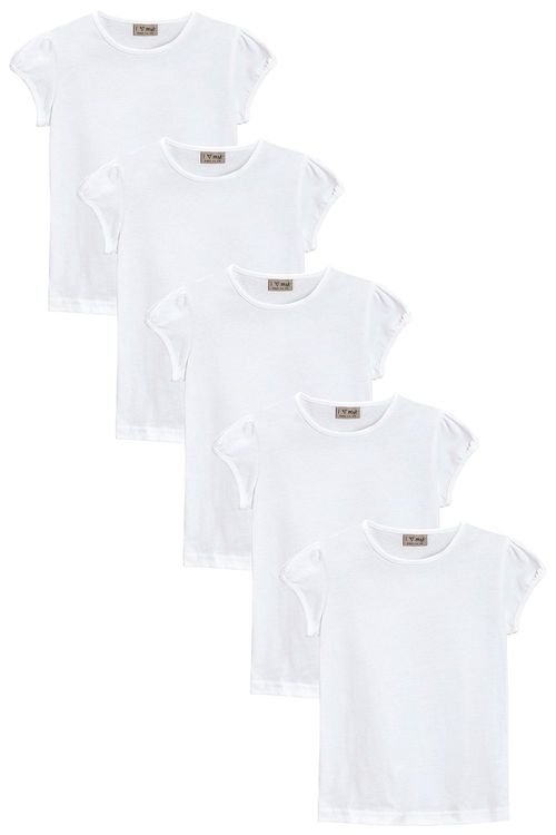 Next Puff Sleeve T-Shirt Five Pack (3-16yrs)