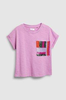 Next Sequin Pocket Short Sleeve T-Shirt (3-16yrs)