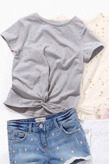 Next Twist Front Short Sleeve T-Shirt (3-16yrs)