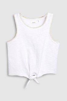 Next White Knot Front Vest (3-16yrs)