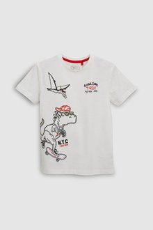 Next Embroidered Dino T-Shirt (3-16yrs)