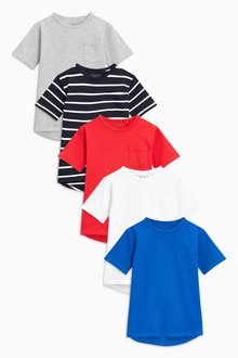 Next Multi T-Shirts Five Pack (3-16yrs)