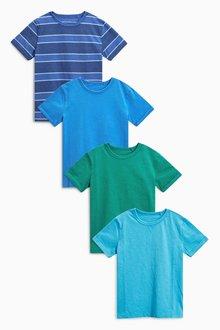 Next Multi Short Sleeve T-Shirts Four Pack (3-16yrs)