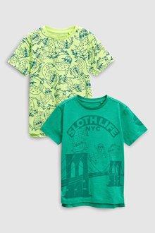Next Sloth T-Shirts Two Pack (3-16yrs)