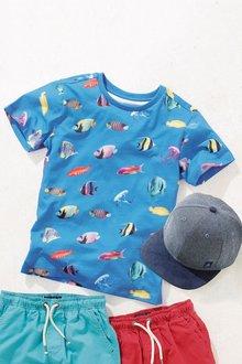 Next Digital Print Fish T-Shirt (3-16yrs)