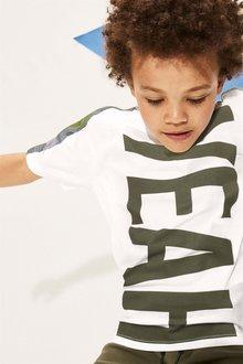 Next Yeah Camo Side Stripe T-Shirt (3-16yrs)