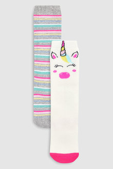 Next Unicorn Welly Socks Two Pack (Younger)