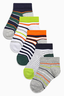 Next Stripe Trainer Socks Five Pack (Younger)