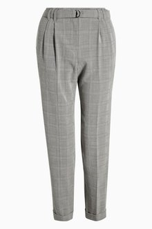 Next Check Belted Capri Trousers