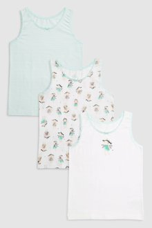 Next Fairy Printed Vests Three Pack (1.5-12yrs)
