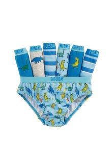 Next Days Of The Week Dinosaur Briefs Seven Pack (1.5-10yrs)