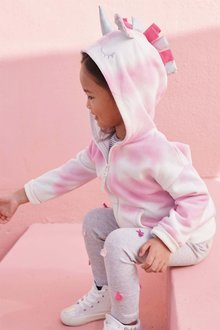 Next Pink Tie Dye Zip Through Hoody (3mths-6yrs)