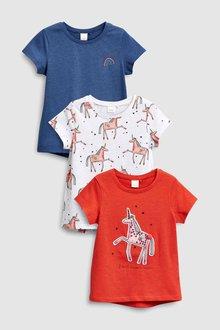 Next Unicorn Tops Three Pack (3mths-6yrs)