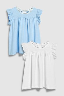Next Frill Vests Two Pack (3mths-6yrs)