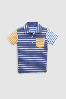 Next Short Sleeve Colourblock Polo (3mths-6yrs)
