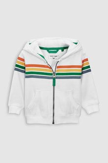 Next Rainbow Stripe Zip Through Hoody (3mths-6yrs)