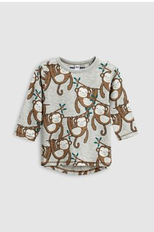 Next Monkey Long Sleeve T-Shirt (3mths-6yrs)