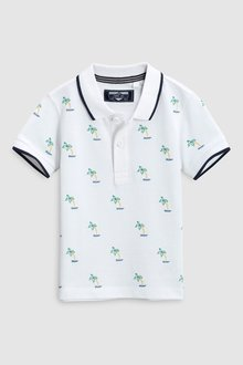 Next Short Sleeve Embroidered Polo (3mths-6yrs)